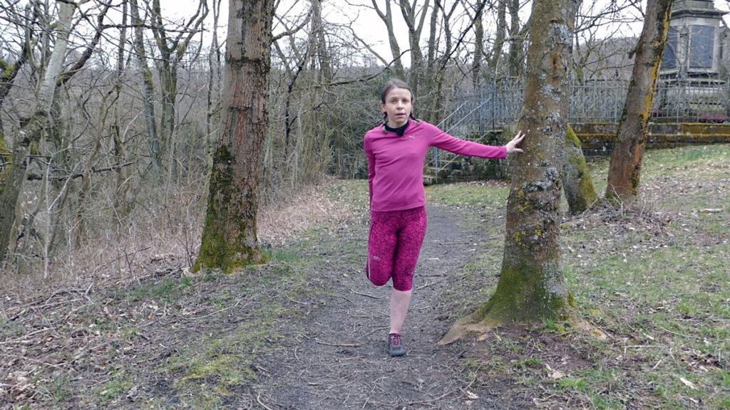 Dehnen Laufen Yoga Tänzer Vorübung