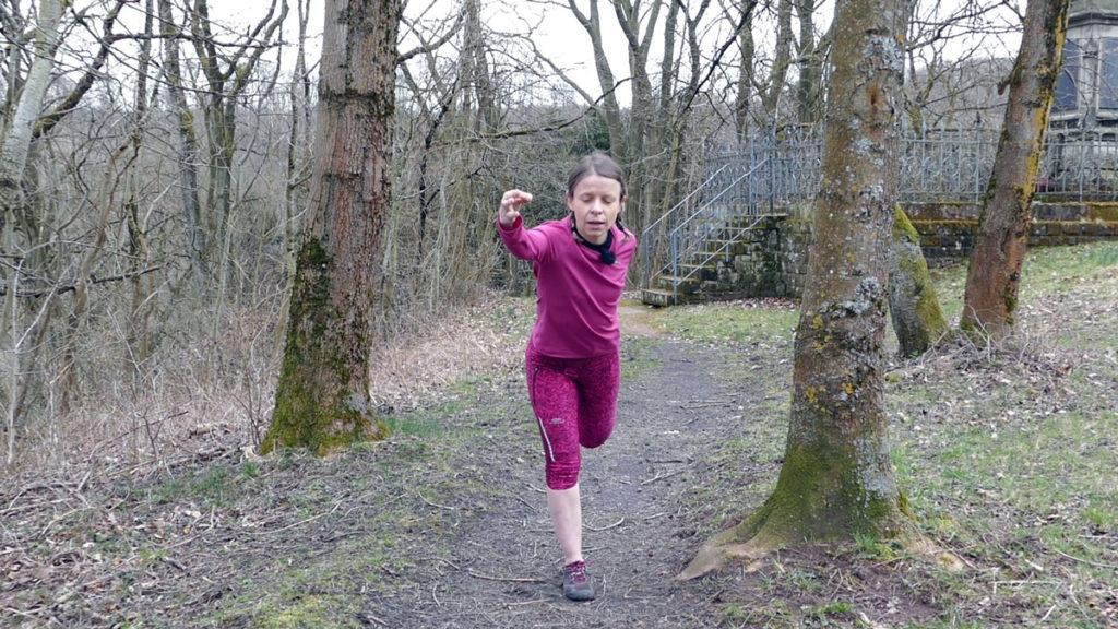 Dehnen Laufen Yoga Tänzer