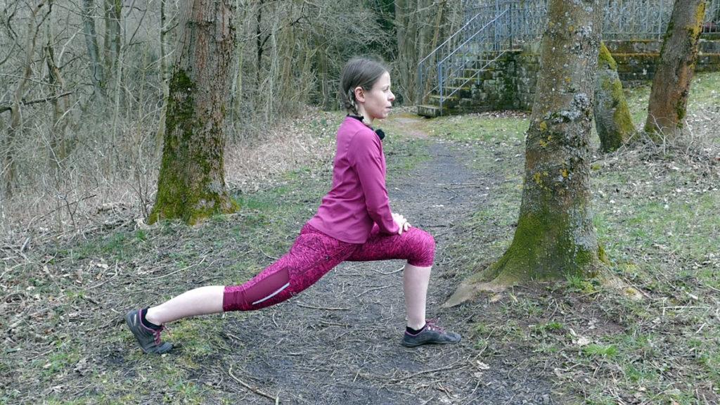 Dehnen Laufen Yoga Deep Lunge / Tiefer Ausfallschritt