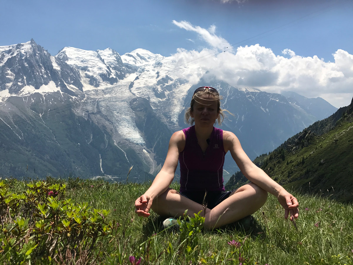 Meditation am Berg