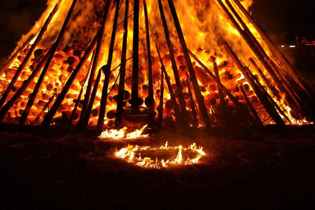Sommersonnenwende Feuer
