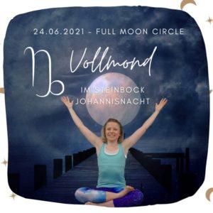 Live Online Yin & Yang Yoga – Vollmond im Steinbock Juni 2021 (Johannismond)
