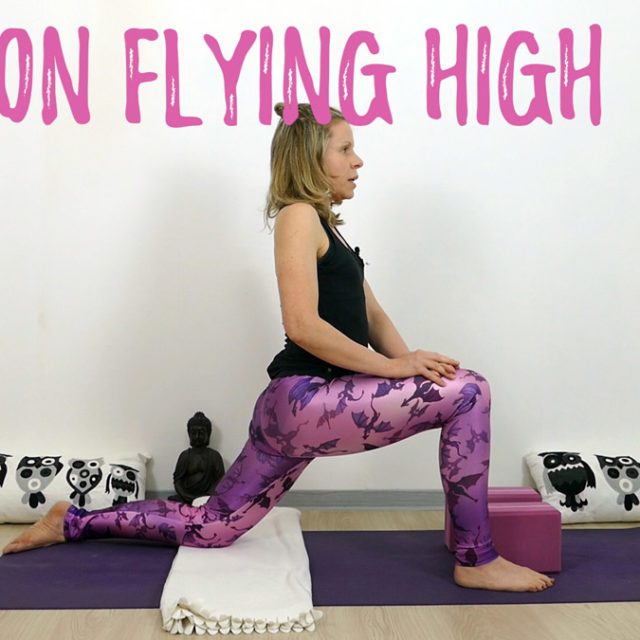 Yin Yoga Drache Dragon Flying High
