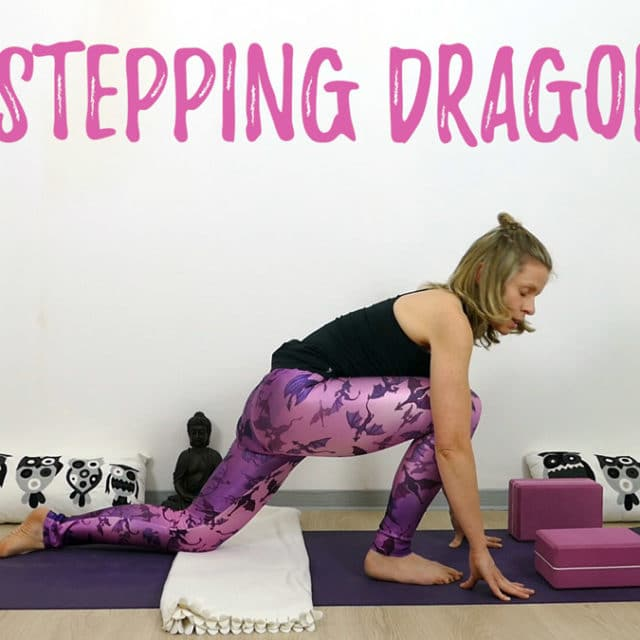 Yin Yoga Drache Overstepping Dragon