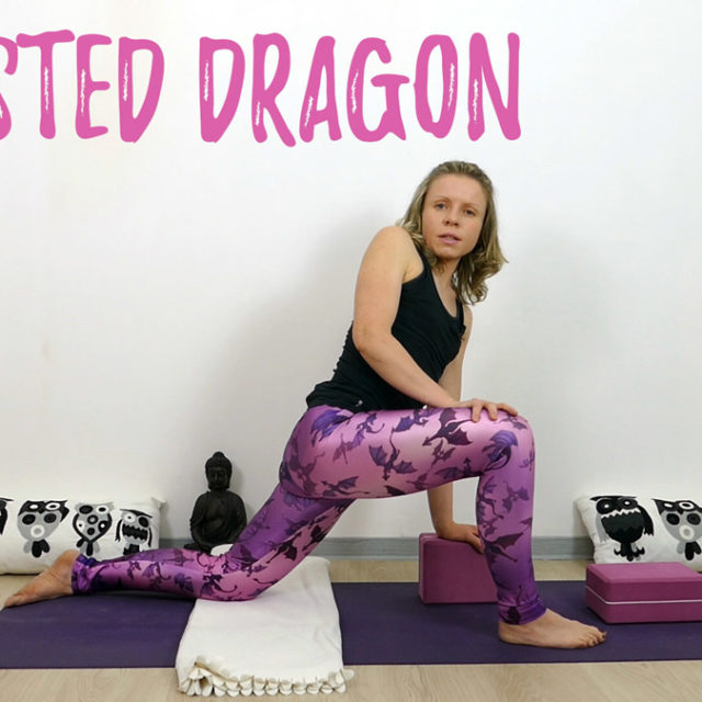 Yin Yoga Drache Twisted Dragon