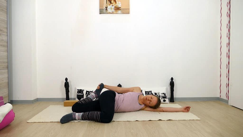 Yin Yoga Element Erde - Magen und Milz - liegende Katze