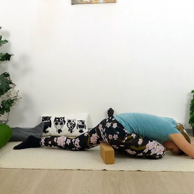 Yin Yoga Holz Sleeping Swan