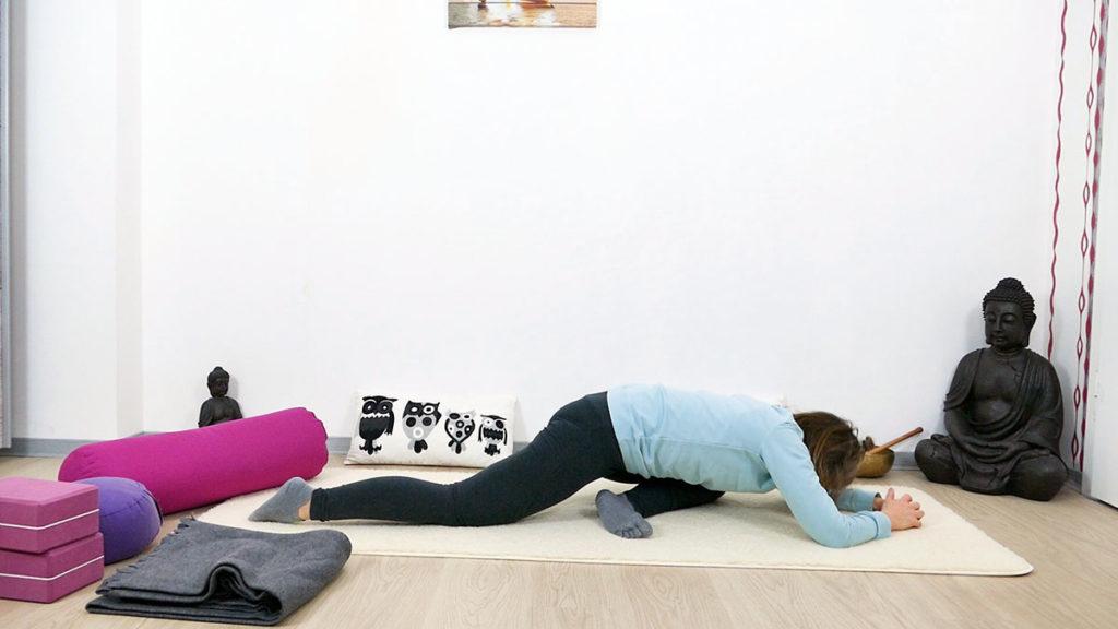 Yin Yoga Immunsystem schlafender Schwan