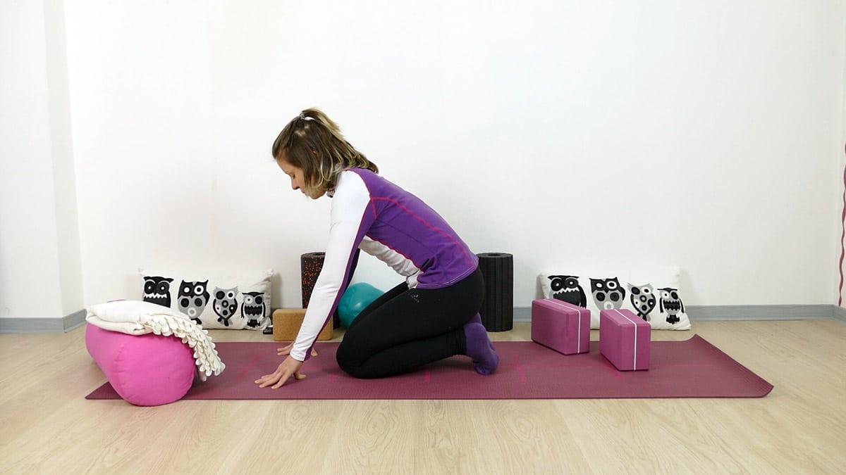 Yin Yoga Zehensitz leichte Variante