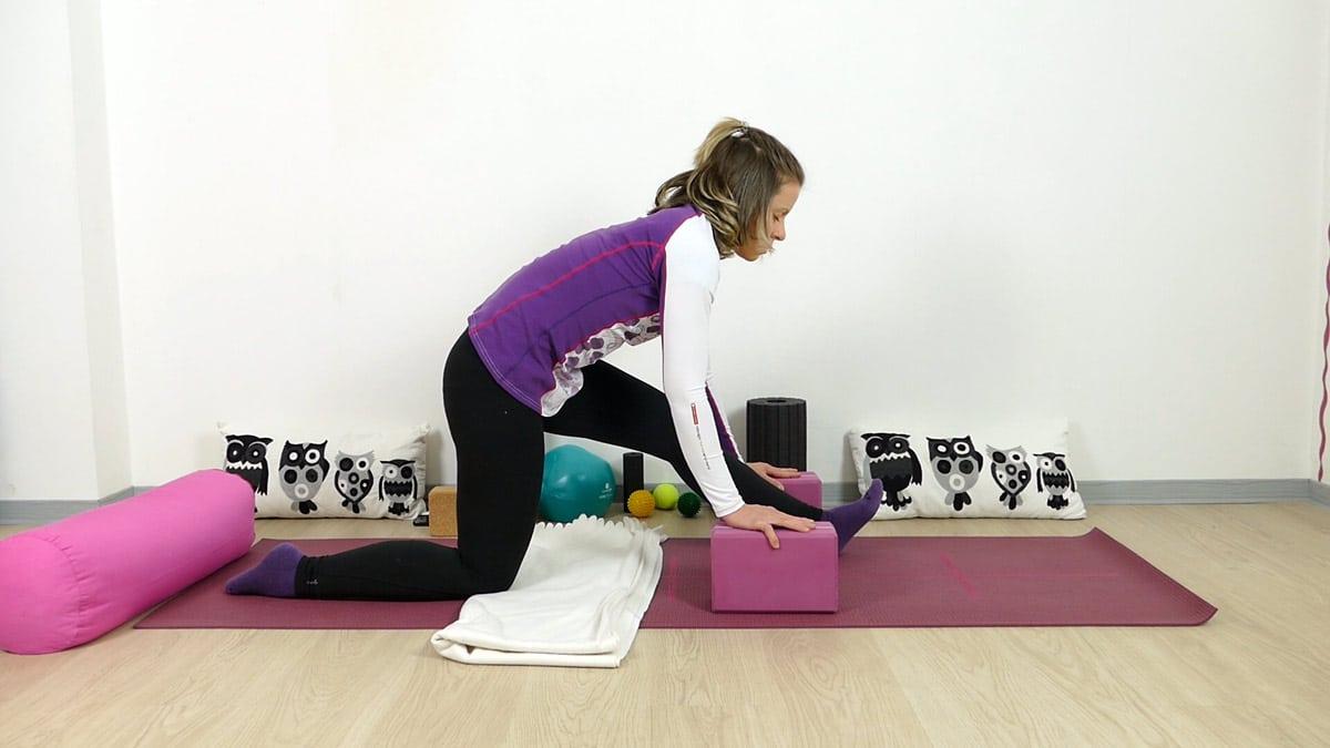 Yin Yoga für Läufer halber Spagat