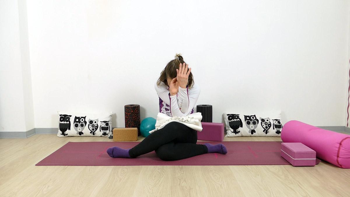 Yin Yoga für Läufer Schnürsenkel mit Adlerarmen