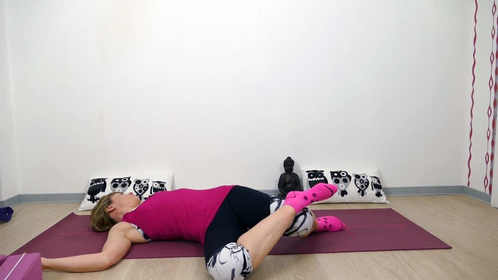 Yin Yoga Läufer Hüftöffnung Flankendehnung