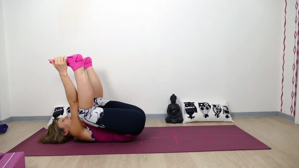 Yin Yoga Läufer Hüftöffnung Happy Baby