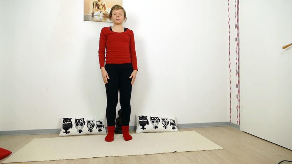 Bergposition - Yin Yoga Wurzelchakra Muladhara