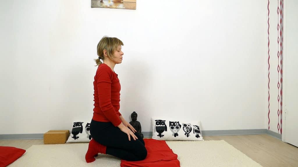 Zehensitz - Yin Yoga Wurzelchakra Muladhara