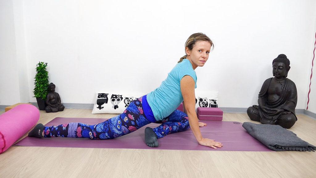 Yin Yoga für Piriformis: Schwan