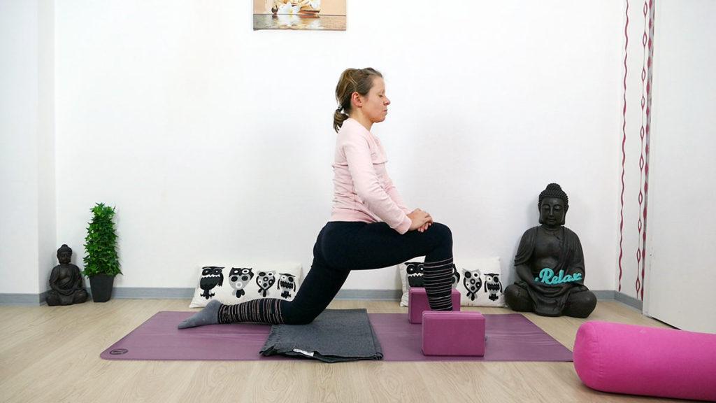 Yin Yoga Drache Hüftbeuger dehnen