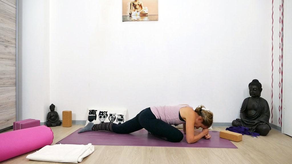 Yin Yoga schlafender Schwan