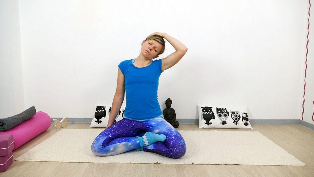 Yin Yoga Vishudda Chakra - Nackendehnung