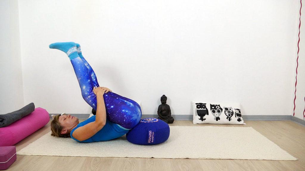 Yin Yoga Vishudda Chakra - Schnecke
