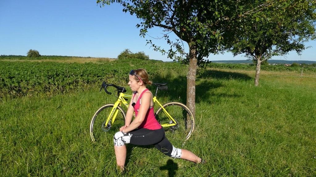 Yoga für Radfahrer Dehnen - Sprinter / Tiefer Ausfallschritt