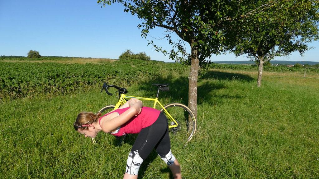 Yoga für Radfahrer Dehnen - Pyramide