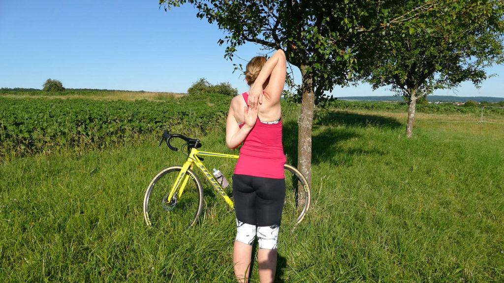 Yoga Radfahrer Dehnen 13